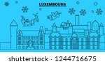 luxembourg winter holidays...   Shutterstock .eps vector #1244716675