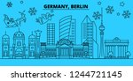 germany  berlin city winter... | Shutterstock .eps vector #1244721145