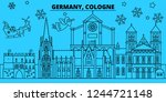 germany  cologne winter... | Shutterstock .eps vector #1244721148