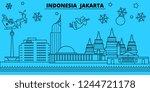 indonesia  jakarta winter... | Shutterstock .eps vector #1244721178