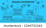 great britain  southampton... | Shutterstock .eps vector #1244721262