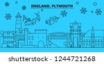 great britain  plymouth winter... | Shutterstock .eps vector #1244721268