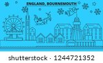 great britain  bournemouth... | Shutterstock .eps vector #1244721352