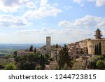 beautiful city of assisi  italy | Shutterstock . vector #1244723815