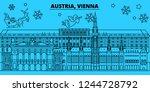 austria  vienna city winter... | Shutterstock .eps vector #1244728792
