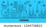 austria  vienna winter holidays ... | Shutterstock .eps vector #1244728822