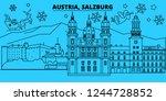 austria  salzburg winter... | Shutterstock .eps vector #1244728852