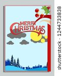 christmas greeting card with... | Shutterstock .eps vector #1244733838