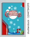 christmas greeting card with... | Shutterstock .eps vector #1244734195