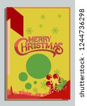 christmas greeting card with... | Shutterstock .eps vector #1244736298
