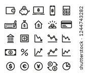 finance icons set | Shutterstock .eps vector #1244743282