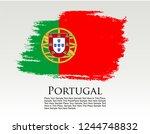 portugal flag vector grunge... | Shutterstock .eps vector #1244748832