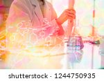 laboratory testing products by ... | Shutterstock . vector #1244750935