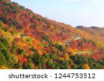 "famous place ""bandai azuma... | Shutterstock . vector #1244753512"