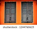 vintage windows with antique... | Shutterstock . vector #1244760625