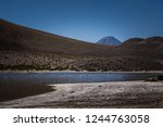 wetland in the andean mountain... | Shutterstock . vector #1244763058