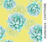 succulents watercolor... | Shutterstock . vector #1244793388