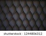 dark metal patterned grill | Shutterstock . vector #1244806312