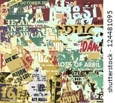 a grunge background with old... | Shutterstock .eps vector #124481095