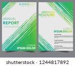 abstract green lines modern... | Shutterstock .eps vector #1244817892