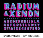 radium and xenon is a brightly... | Shutterstock .eps vector #1244820838