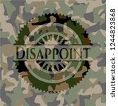 disappoint camouflage emblem | Shutterstock .eps vector #1244823868