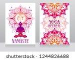 banner for yoga studio or yoga... | Shutterstock .eps vector #1244826688