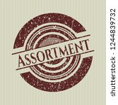 red assortment distressed... | Shutterstock .eps vector #1244839732