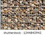 gabions as visual protection | Shutterstock . vector #1244842942