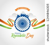 indian republic day 26 january. ... | Shutterstock .eps vector #1244846305