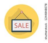 sale   board  hanging   | Shutterstock .eps vector #1244848078