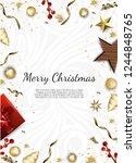 banner with vector christmas... | Shutterstock .eps vector #1244848765