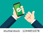 payment success illustration | Shutterstock .eps vector #1244851078