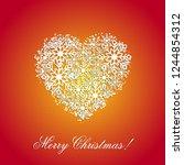 orange christmas background... | Shutterstock .eps vector #1244854312