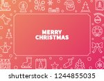 merry christmas vector cute... | Shutterstock .eps vector #1244855035