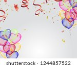 christmas party poster template ... | Shutterstock .eps vector #1244857522