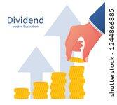 dividend concept. improve... | Shutterstock .eps vector #1244866885