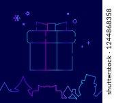 gift box with ribbon vector...