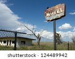 Old  Rust Motel Sign With...