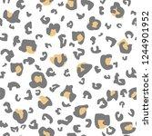 leopard  seamless pattern. ... | Shutterstock .eps vector #1244901952