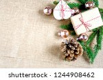top view gift box hand made... | Shutterstock . vector #1244908462