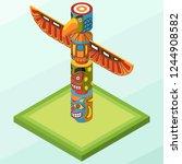 isometric vector illustration... | Shutterstock .eps vector #1244908582