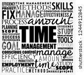 time management word cloud... | Shutterstock .eps vector #1244912845