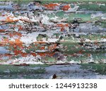close up old galvanized zinc... | Shutterstock . vector #1244913238