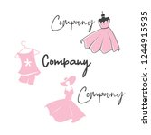 variations fashion beauty logo | Shutterstock .eps vector #1244915935