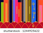 asymmetric geometric print....   Shutterstock .eps vector #1244925622