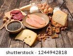 assorted protein food | Shutterstock . vector #1244942818