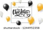 merry christmas 2019 vector... | Shutterstock .eps vector #1244952358