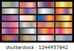 gold rose  bronze  silver and... | Shutterstock .eps vector #1244957842