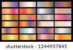 gold rose  bronze  silver and... | Shutterstock .eps vector #1244957845